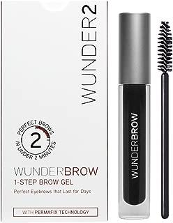 WUNDER2 WUNDERBROW Long Lasting Eyebrow Gel for Waterproof Eyebrow Makeup, Jet Black Color