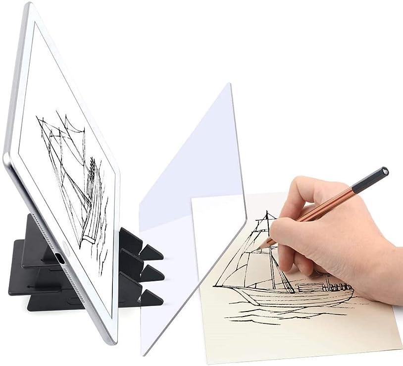 不平を言う気性側面Trace 'n Draw光学デザートプロジェクタートレース画像描画ボード、子供と初心者向けのポータブルコピーテーブルプロジェクションスケッチツール
