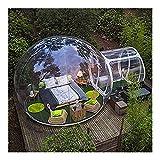 GIAOGIAO Aufblasbares Zelt im Freien aufblasbaren Zelt Aufblasbares Zelt Blase Einzelner Tunnel Ferien Zelt Transparent Camping Dome Pavillon-Zelt