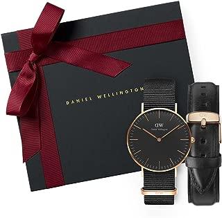 Gift Set Classic Black Cornwall 36mm + Classic Sheffield Watch Band 18mm