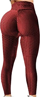 Women's Sexy TIK Tok Leggings Scrunch Print High Waist Leggings Butt Lifting Workout Running Anti Cellulite Yoga Pants