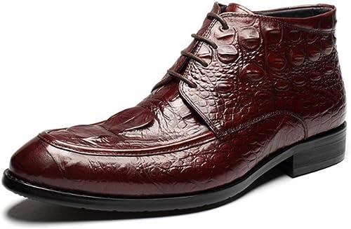 schuhe De Hombre Botines Martin Stiefel Cordones Alto-elástico Casual Cómodo En Foot