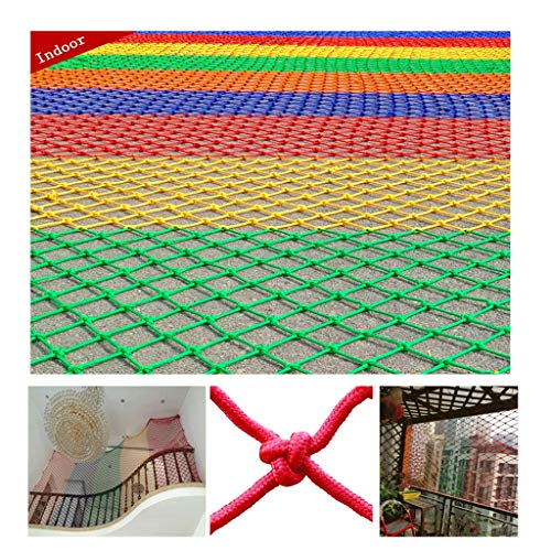 Why Should You Buy Child Safety Net Color Woven Mesh Balcony Protection Net Stair Railing Shatter-Re...