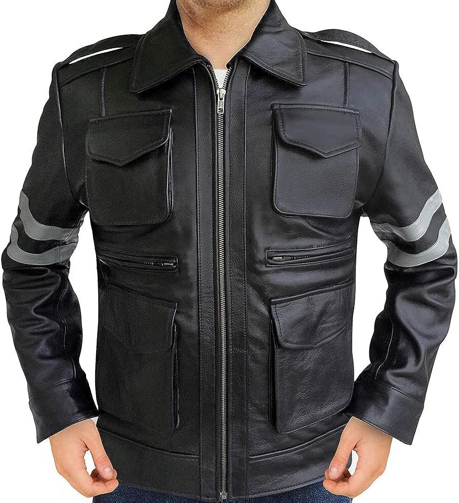 Da Imperial Resident Evil 6 Gaming Leon Kennedy Black Leather Jacket
