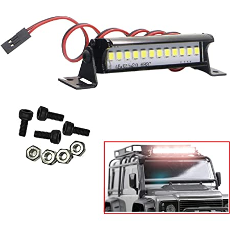 1pc Rectangle Bright LED Lamp Police Light For 1//10 1//8 RC Crawler Axial SCX10