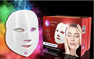 Rejuven Mask Photon LED Therapy Mask Includes FREE bottle of Argan Oil for Anti-ageing, Brightening, Improve Wrinkles. Tightening and Smoother Skin