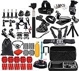 Set de Accesorios para GoPro Hero 5 4 3 2 3 + 1 y Acción Cámaras Bundle Kit de Montaje para SJ4000 SJCAM/Xiaomi Yi cámara 4K Lightdow WiMiUS DBpower