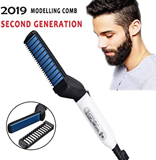 RAZZL DAZZL HAIR Quick Hair Styler for Men Electric Beard Straightener Massage Hair Comb Beard Care