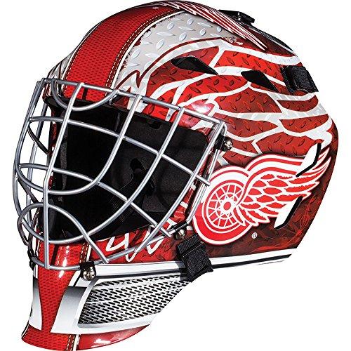 Franklin Sports Detroit Red Wings NHL Hockey Goalie Face Mask - Goalie Mask for Kids Street Hockey - Youth NHL Team Street Hockey Masks