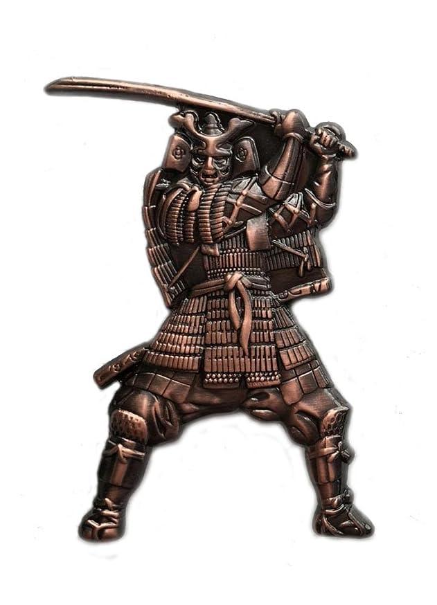 Ancient Japanese Samurai Warrior with Katana Sword, Emperor Lapel Pin (Bronze), 1 piece, Blade, Brooch, Japan's Rising Sun, Bushido Code, Imperial Dynasty & Empire.