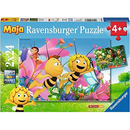 Ravensburger - Puzzle Abeja Maya, Pack de 2 x 24 Piezas (90938)