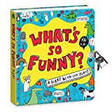 Peaceable Kingdom What's So Funny?' Lock and Key Diary with Jokes and Magic Light Pen