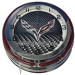 Corvette Double Neon Clock
