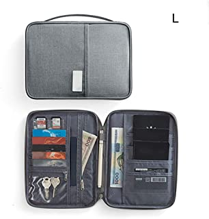 Zandreal Multi-Function Card Bag Holder Passport Card Package Wallet Durable Cationic Waterproof for Travel Keys Money for Men and Women