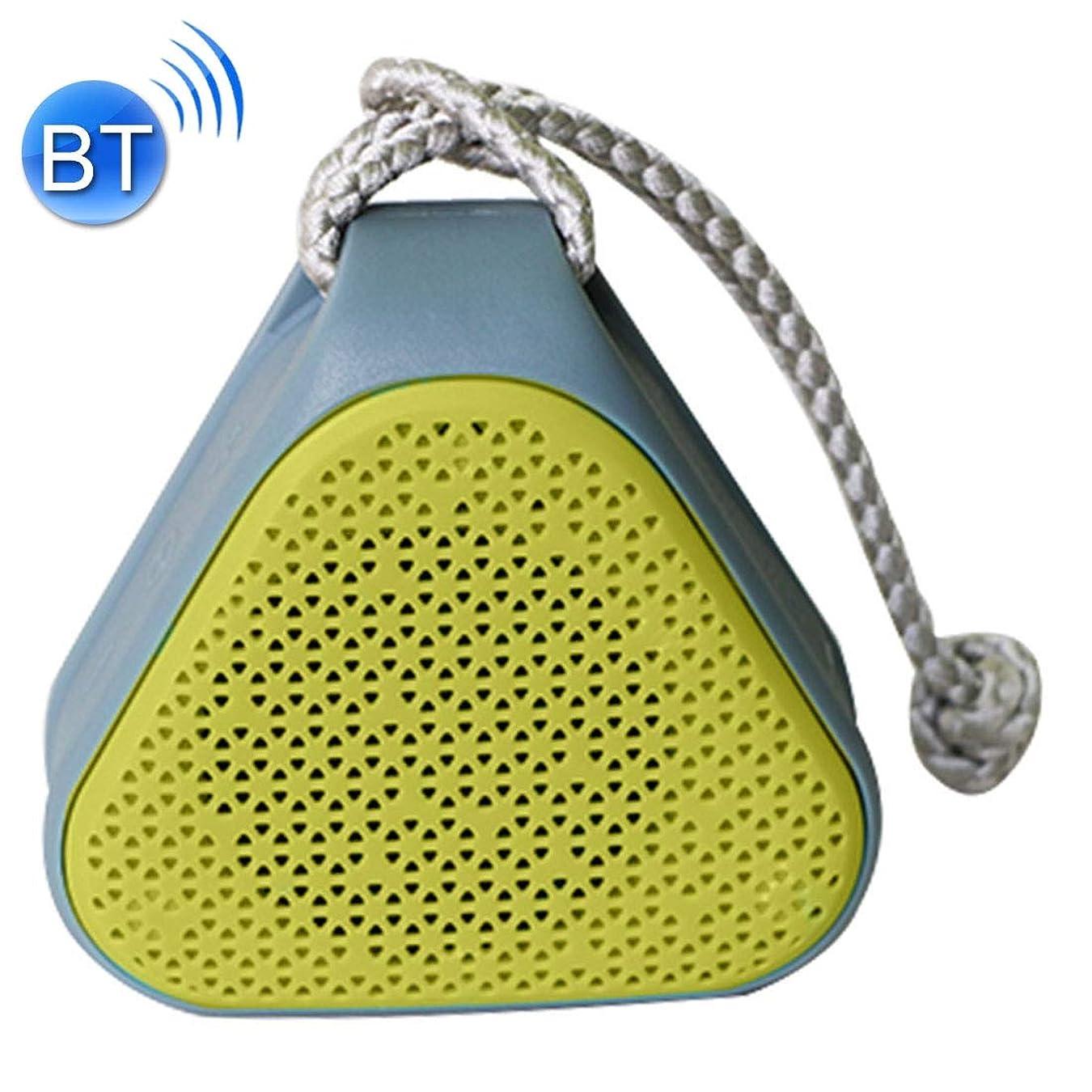 進行中抱擁人気のZYIS Bluetoothのポータブルスピーカー、ポータブルBluetoothの4.1ステレオスピーカー、内蔵してMIC&ストラップ、サポートハンズフリー&AUX入力&TFカード&FM&MP3、Bluetoothの距離:10メートル(緑) (色 : 黄)