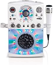 Singing Machine SML385UW Bluetooth Karaoke System with LED Disco Lights, CD+G, USB, and..