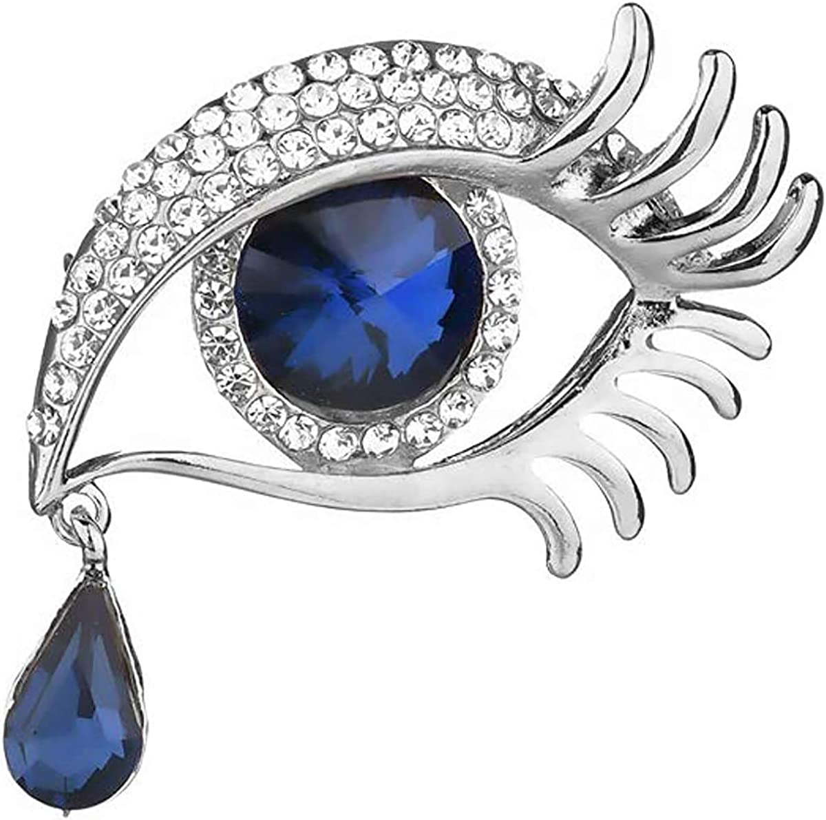 Limited time sale Fashion Royal Blue Tear of Angel Brooch Ranking TOP10 S Covered Rhinestone Pin