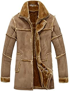RAF B3 in pelliccia sintetica cappotto con cappuccio bomber maschile in pelle vera Cuoio Giacca Elegante