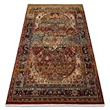 Teppich Wolle KESHAN Ornament orientalisch 7518/53528 beige/dunkelblau 250x350 cm beige