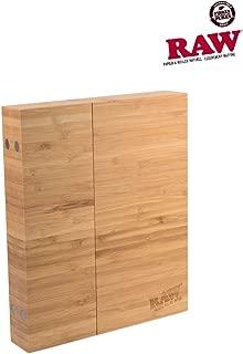Raw Wooden Triple Flip Magnetic Rolling Tray