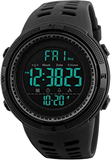 Tonnier Watch Mens Outdoor Sports Watches Multifunction Digital LED Military Dual Time Back Light...