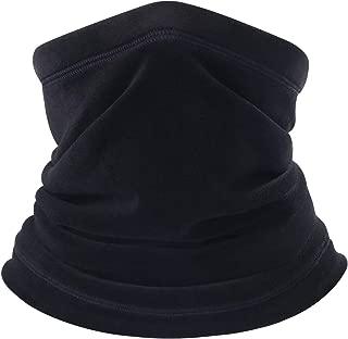 BINMEFVN Polar Fleece Neck Warmer - Windproof Winter Neck Gaiter Cold Weather Face Mask for Men Women - 1 or 2 Pack
