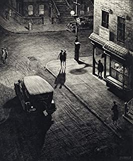 Martin Lewis Relics Circa 1928 NYC : Drypoint Etching Art Print