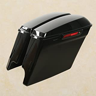 XMT-MOTO Extended Stretched Hard Saddlebags With Latch + Keys fits for Harley-Davidson Touring FLT, FLHT, FLHTCU, FLHRC, Road King, Road Glide, Street Glide, Electra Glide, Ultra-Classic 2014-2019