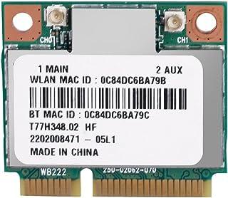 Tosuny 300Mbps Tarjeta de Red Gigabit PCI Express, Mini PCI-E Tarjeta WiFi Bluetooth 4.0 inalámbrica, Adaptador de Red Banda Dual 2.4M / 5G para Computadoras Portátiles