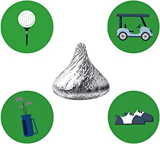 MAGJUCHE Golf Themed Candy Stickers, Birthday or Retirement Party Favor Labels, Fit Hershey's Kisses, 304 Count