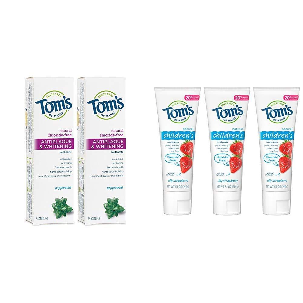 Tom's of Maine Fluoride-Free Houston Mall Popular brand in the world Toothpaste Whitening Antiplaque w