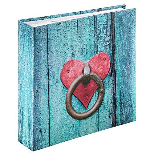 Hama Rustice Fotoalbum, 100 witte pagina's, 50 vellen, insteekalbum voor 200 foto's van het formaat 10 x 15 cm, deurknop