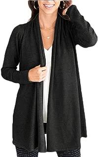 Women's Casual Sweater Cardigan Open Front Long Sleeve Knit Sweater