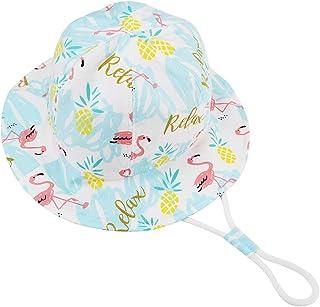 Exemaba Hat Babies Boy Girl Gift - Toddler Sun Hat Cartoon Animal Reversible Bucket Hat