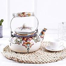 Koffie Sets Porselein Dikke Email Pot Waterkoker Thee Pot Emaille Pot Melk Pot Platte Bodem Pot Elektromagnetische Pot Gas...