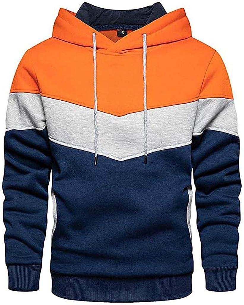 Men Hoodies Plain Zipper Athletic Sweatshirt Casual Long Sleeve Gym Hooded Drawstring Workout Sweatshirts