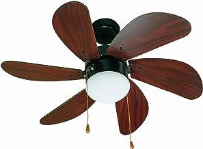 Faro Barcelona 33185 - PALAO Ventilateur de plafond avec MDF en bois clair 6 pales, diamètre 760 mm, chaîne entraînée