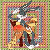 Bugs Spanking Lola BLOTTER Art Psychedelic Print Perforated Sheet, Acid Free LSD Art Paper 30x30, 900 tabs, 7.5 inch, in Clear Protective Sleeve