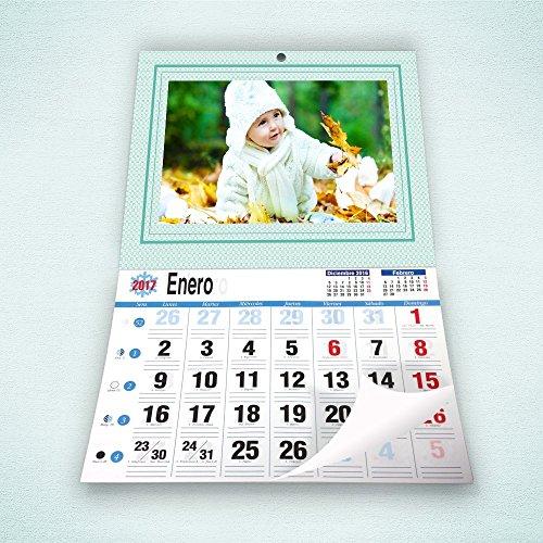 FOTOCENTER Calendarios Personalizados faldilla 43 x 62 cm - Imprime tu Pack de 2 calendarios idénticos.