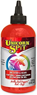 Unicorn SPiT 5771002 Gel Stain and Glaze, Molly Red Pepper 8.0 FL OZ Bottle