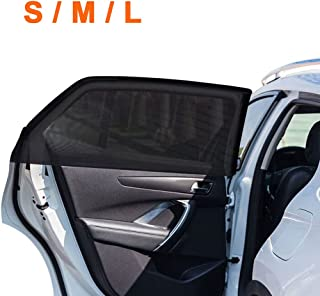 2Pack Universal Super Elastic Car Window Sunshades up to 45