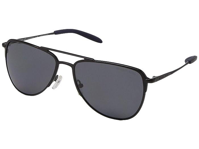 Michael Kors  59 mm Dayton MK1049 (Matte Black/Dark Grey Solid Polar) Fashion Sunglasses