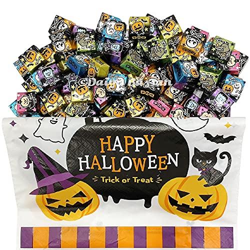 チロルチョコ ハロウィン 個包装 80個セット 詰め合わせ + ハロウィン限定デザイン袋 お菓子 メール便 4580713780247