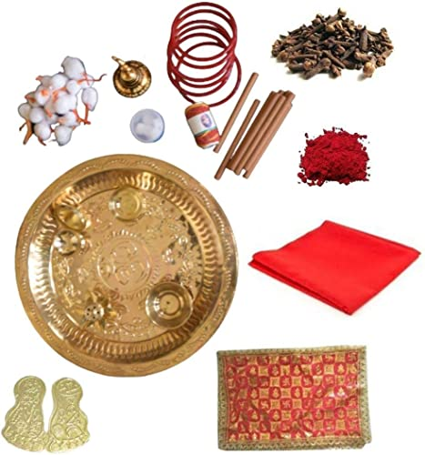 Essential Product Set of 12 puja Items kit in Small Box Combo for Navratri MATA shringar puja samagri for