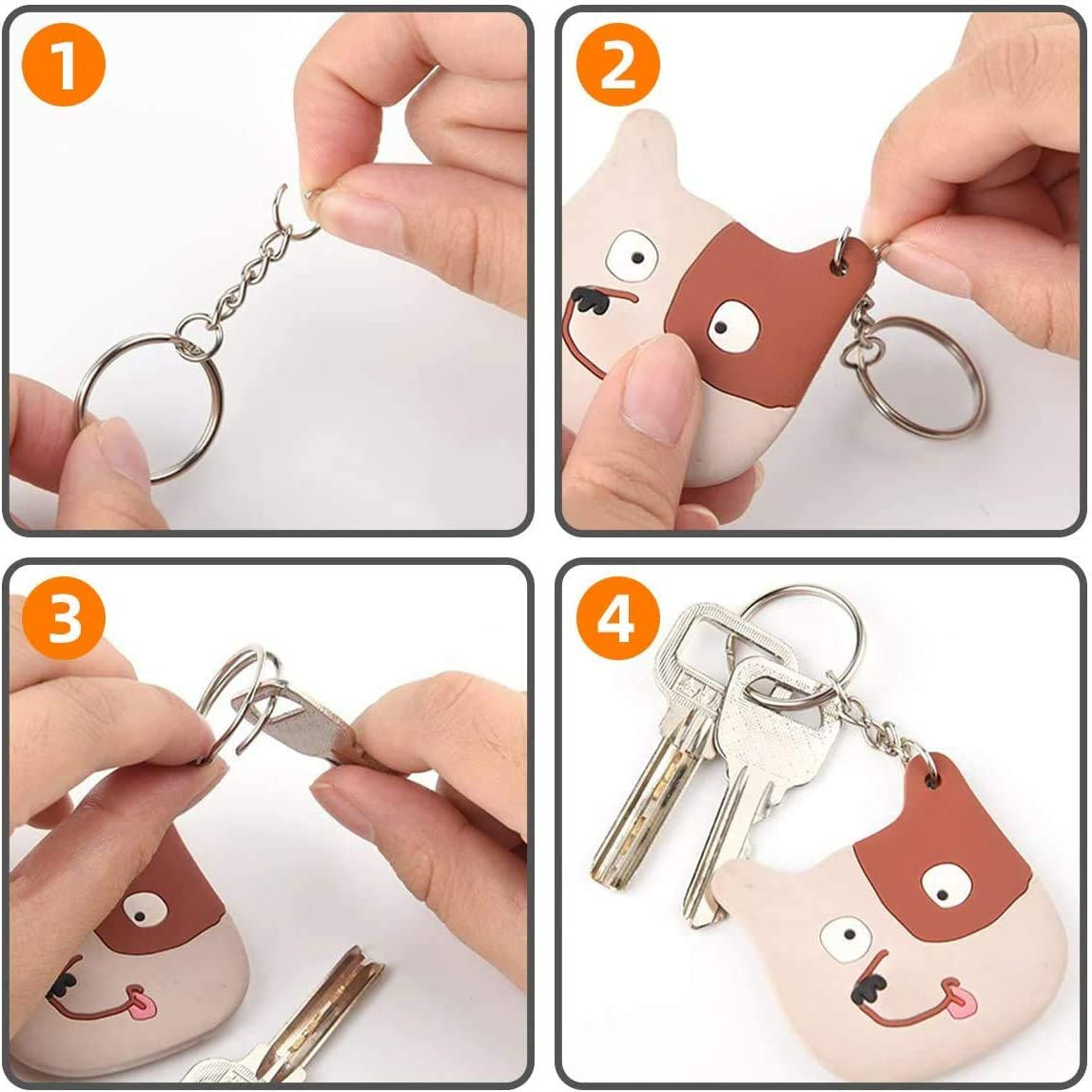 Suitable for Crafts Xinmeng 100 Pieces Key Ring Key Chain Rings Split Keyrings with Link Chain and Jump RingsMetal Rings Jewelry Making Resin DIY and So On 25 mm Diameter