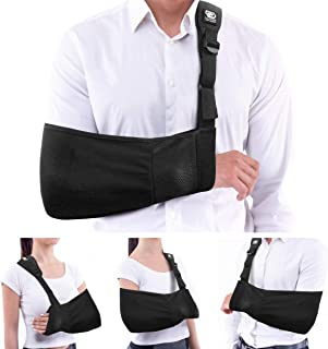 Copper Compression Arm Sling for Men and Women. Fits Both Left and Right Arms. Guaranteed Highest Copper Arm Shoulder Slings. Immobilizer Support for Broken Arm, Shoulders, Elbow, Rotator Cuff Brace