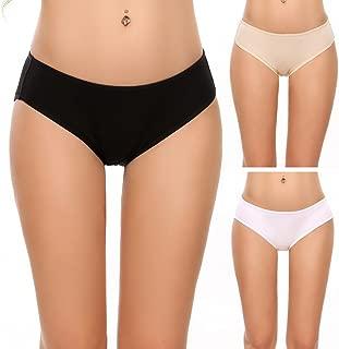 Ekouaer Womens Underwear Cotton Panties Brief 3 in 1 Pack