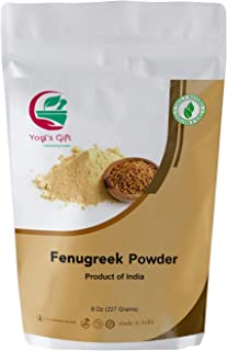 YOGIs GIFT   Fenugreek Powder Organic 8 oz   Fenogreco polvo   Helps hair nourishment   Fresh from India   Non GMO