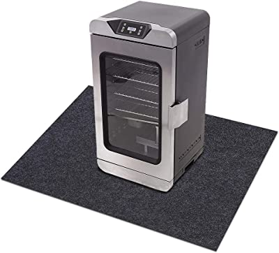"""Electric Smoker Mat,Premium Oven Protective Mat—Protects Decks and Patios from Grease Splashes,Absorbent Material-Contains Smoker Splatter,Anti-Slip and Waterproof Backing,Washable (36"""" x 36"""")"""