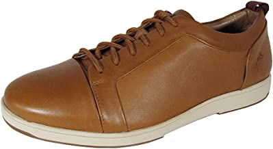 Tommy Bahama Mens Cadiz Tiles Leather Low Cut Sneaker Shoes, Tan, US 11.5